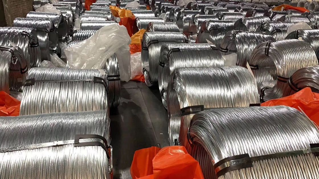 EN10257 Non - Alloy Galvanized Steel Wire , Zinc Coated Wire For Armoring