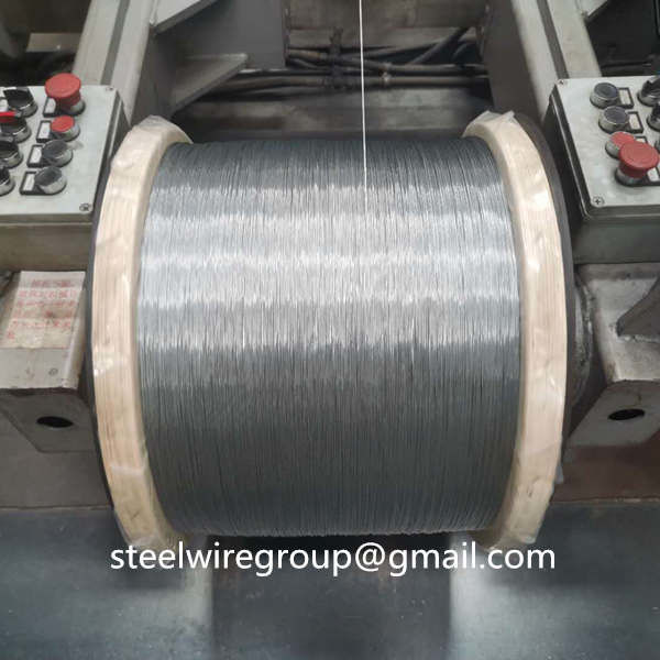 0.33mm 4.8mm BS443 Galvanized Steel Wire Strand For Optical Cable